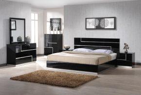 Спальня spa11186 по индивидуальным размерам на заказ, материалы из лдсп мдф эмали расцветка — черный в интернет магазине mebelblok.ru