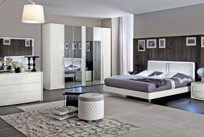 Спальня spa21712 по индивидуальным размерам на заказ, материалы из лдсп мдф эмали расцветка — белый в интернет магазине mebelblok.ru