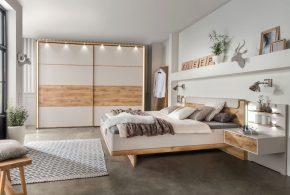 Спальня spa47709 по индивидуальным размерам на заказ, материалы из лдсп мдф эмали расцветка — бежевый белый в интернет магазине mebelblok.ru