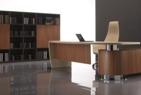 Кабинет kab48887 по индивидуальным размерам на заказ, материалы из дерева лдсп мдф расцветка — коричневый бежевый черный в интернет магазине mebelblok.ru