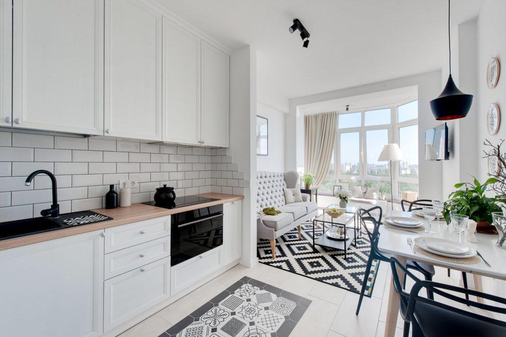 Роскошный дизайн кухни-столовой