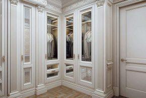 Классический шкаф на заказ в Москве из массива дерева ЛДСП МДФ SHK61411