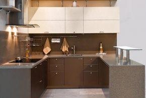 П-образная кухня по индивидуальным размерам на заказ фасады из лдсп мдф пластика KUH36615