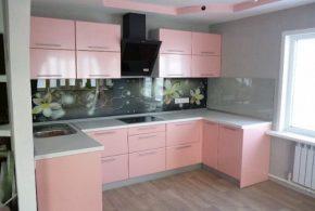 П-образная кухня по индивидуальным размерам на заказ фасады из лдсп мдф KUH61415