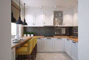 П-образная кухня по индивидуальным размерам на заказ фасады из лдсп мдф KUH47632
