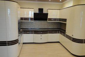 П-образная кухня по индивидуальным размерам на заказ фасады из лдсп мдф KUH97921