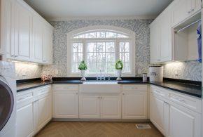П-образная кухня по индивидуальным размерам на заказ фасады из лдсп мдф KUH64986