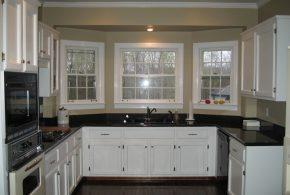 П-образная кухня по индивидуальным размерам на заказ фасады из массива дерева лдсп мдф KUH64183