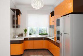 П-образная кухня по индивидуальным размерам на заказ фасады из лдсп мдф KUH15735
