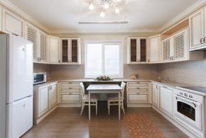 П-образная кухня по индивидуальным размерам на заказ фасады из лдсп мдф KUH32276