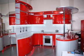 П-образная кухня по индивидуальным размерам на заказ фасады из лдсп мдф пластика KUH16453