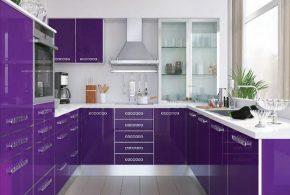 П-образная кухня по индивидуальным размерам на заказ фасады из лдсп мдф пластика KUH37902