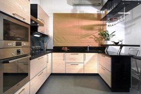 П-образная кухня по индивидуальным размерам на заказ фасады из дсп лдсп мдф KUH64579