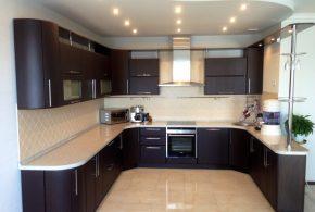 П-образная кухня по индивидуальным размерам на заказ фасады из дсп лдсп мдф KUH35800