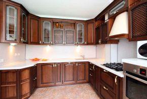 П-образная кухня по индивидуальным размерам на заказ фасады из массива дерева лдсп мдф KUH42495