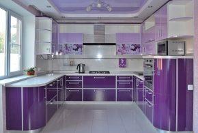 П-образная кухня по индивидуальным размерам на заказ фасады из лдсп мдф KUH15518